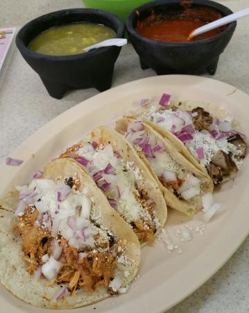Acapulco Mexican Grocery Y Taqueria: Three pollo and one carnitas