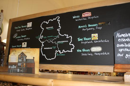 Ludlow Food Centre: Local beers