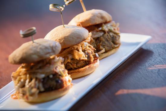 Ember Modern American Tavern Pulled Pork Sliders Southern Slaw Mustard Bbq Tobacco