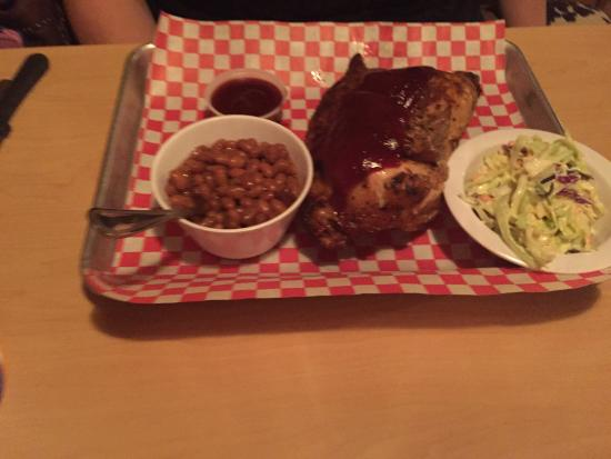 Chilleen's on 17: The Smoked Chicken was a great surprise. 1/2 chicken which was very moist and yummy. The BBQ Bri