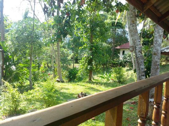 Full Moon House & Resort: Vue depuis la terrasse du bungalow