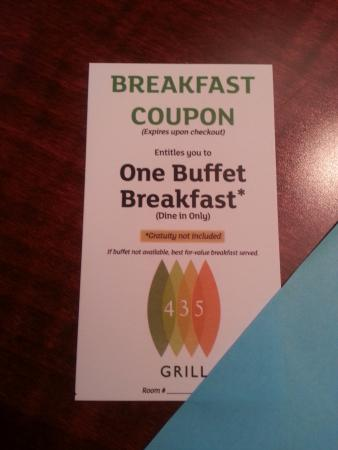 Pic Of Breakfast Coupon Picture Of Holiday Inn Asheville Biltmore