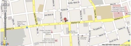 Blue Regency Hotel: Map