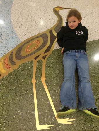 Sanford Center floor inlaid art