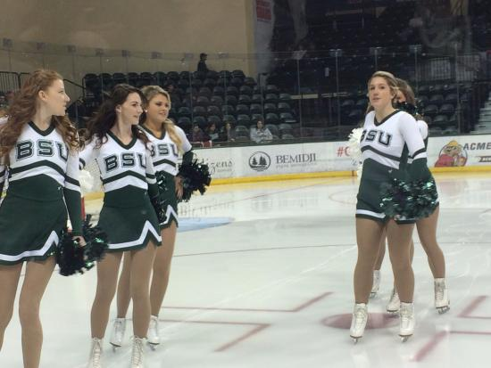 Sanford Center Bemidji college hockey game, notice empty seats