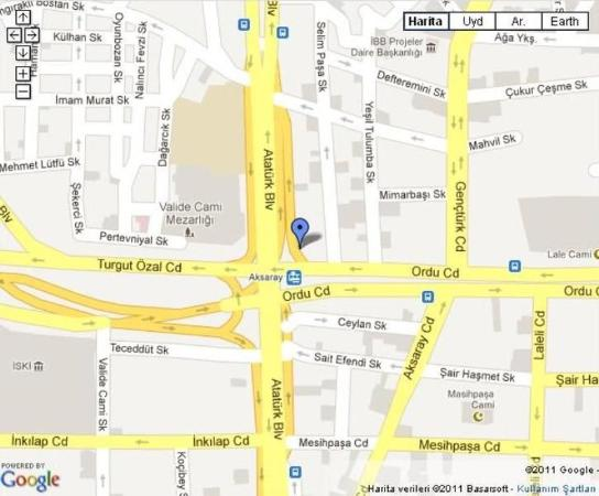 Grand Durmaz Hotel : Map