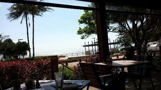 Kacy's Bargara Beach Motel Complex: View from ocean view room and restaurant
