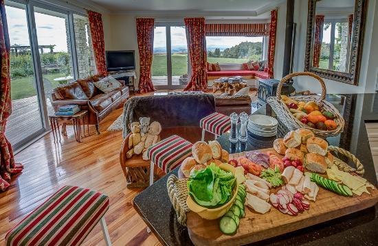 Waitomo Boutique Lodge : Fresh produce from Montrose Estate
