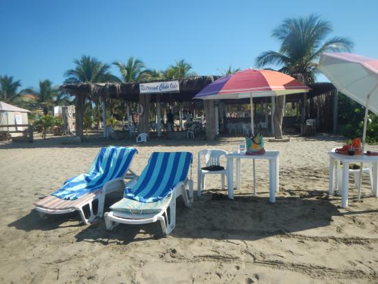 Playa Blanca, México: Our setup for the day