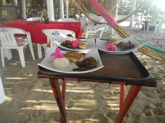Playa Blanca, Mexico: Our wonderful fish lunch