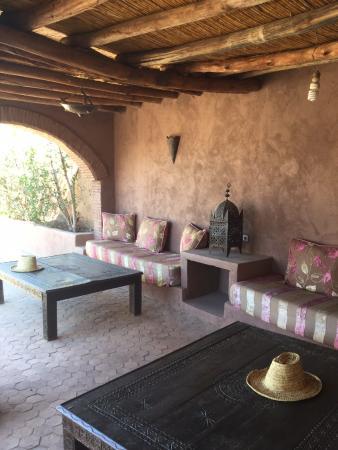 Riad Nabila : terrasse couvertes