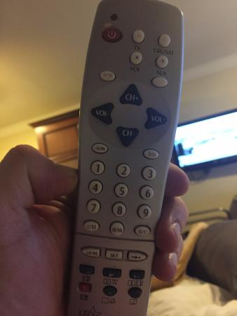 Castlecourt Hotel: Not original remote so unable to turn off descriptive commentary whilst trying to watch.