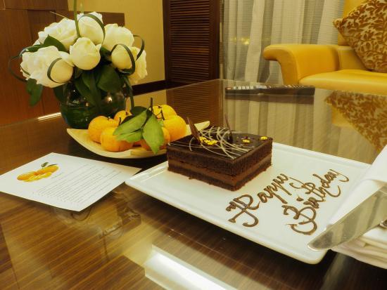 JW Marriott Hotel Hanoi The Surprise Birthday Cake And Fruits