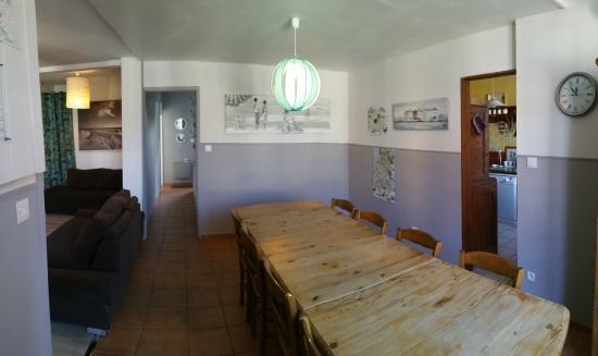 Les Abris-Cotiers: salle à manger