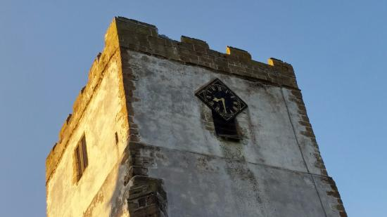 Orton church clock, summer evening