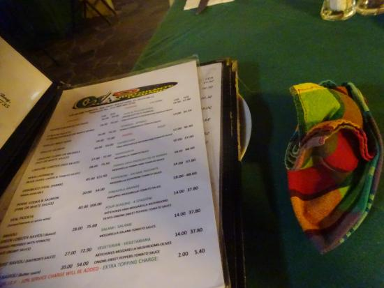 Ciao Restaurant Menu St Kitts