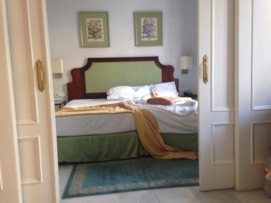 single beds only TV in bedroom - Picture of Hotel San Gil, Seville ...