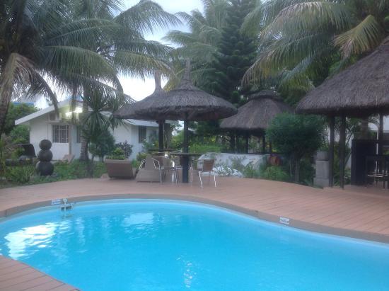 Hotel Des 2 Mondes: Aperçu piscine et jardin