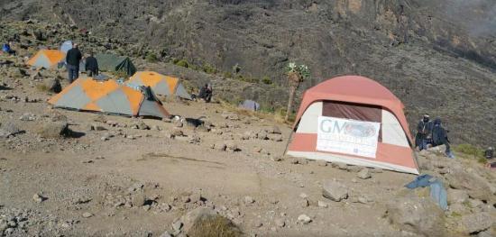 GMExpeditions Mountain Hardwear trekker tents + mess tent on Kilimanjaro & Mountain Hardwear trekker tents + mess tent on Kilimanjaro ...