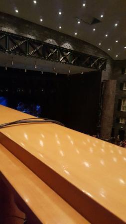 Ecco cosa si vede dalla balconata ... niente..