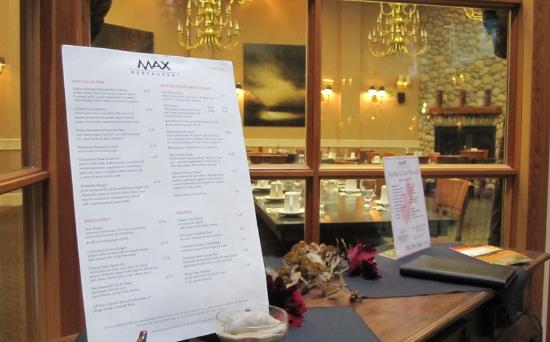 Max Restaurant - Park Place Lodge: Max Restaurant at Park Place Lodge