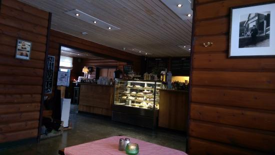 Bahnhof Cafe: View of the serving area