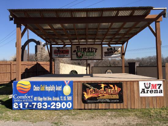 Off the beaten path in Alvarado, Texas. Nice environment to enjoy outdoor events promoting many