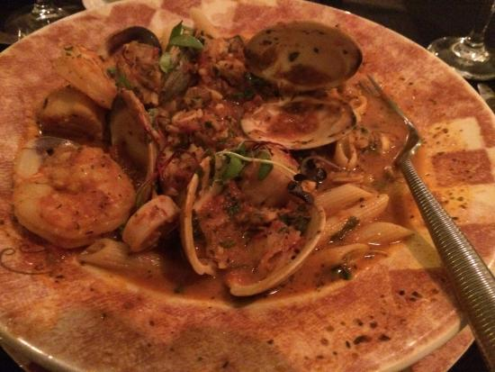 Cotuit, MA: Salmon Florentine and a Tuscan Seafood Stew