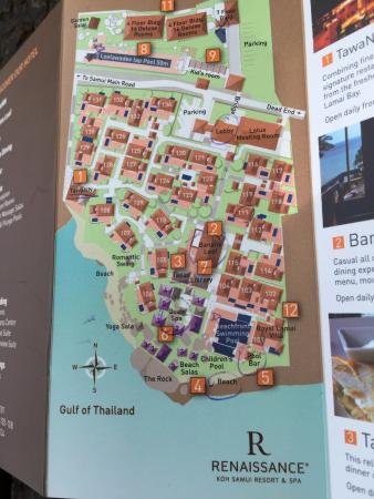 Hotel map Picture of Renaissance Koh Samui Resort Spa Lamai