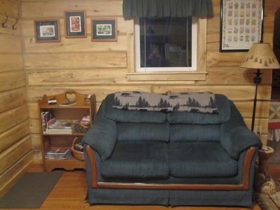 Glacier View, AK: Cabin #1 living area