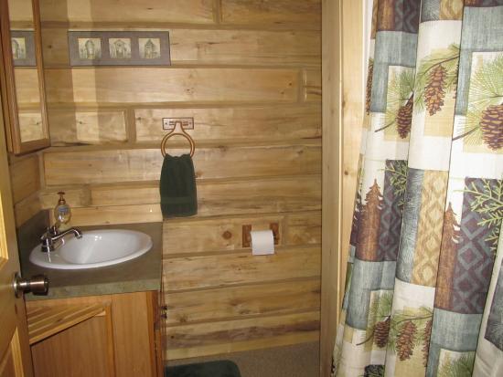 Glacier View, AK: Cabin #1 bathroom
