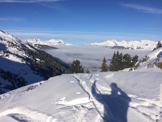 Lourtier, Suiza: La vue sur le Grand Chavalard