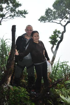 Mt Isarog National Park: me and my partner at the summit