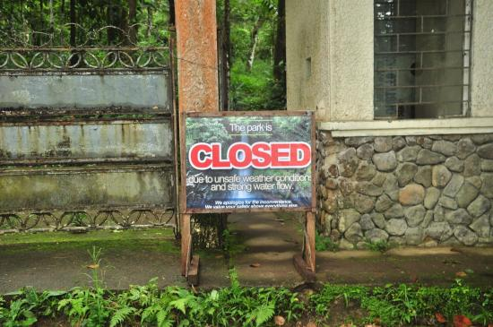 Mt Isarog National Park: Gate were closed just after we arrived from the hike due to bad weather
