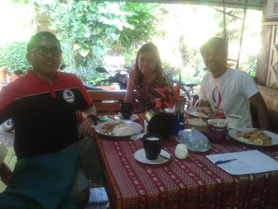 Chat Guest house: having our breakfast