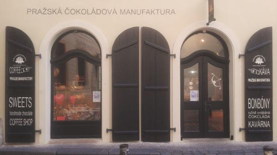 Prazska Cokoladova Manufaktura: Entrance to shop