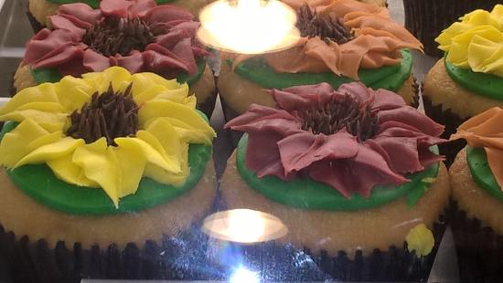Morristown, Nueva Jersey: Flower cupcakes