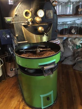 grounded coffee machine