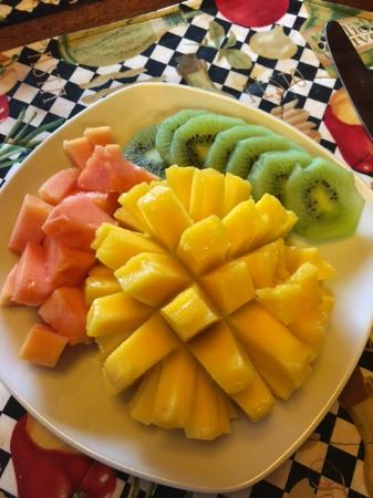 Williamstown, MA: Fresh papaya, mango and kiwi fruit plate