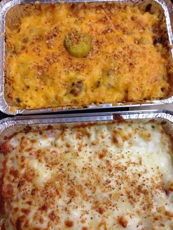 MIX N MAC - MAC & Cheese: Big Mac in one tray and Ham and cheese in the other!