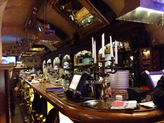 The bar at the bottom floor is perfect