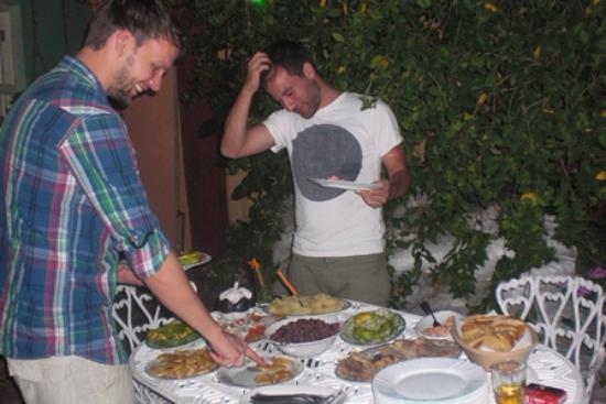 B&B Elda y Roberto: Fantastic new year's eve selection of food