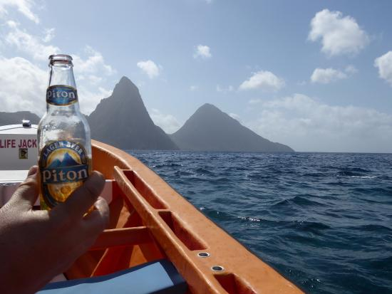 Israel King Water Taxi  Private Tours: Piton by the Pitons.