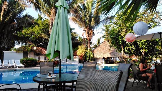 Hotel Villas Playa Samara: pool area where we ate breakfast