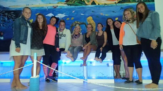 Hug Bucket Fish Spa: After dinner photo with team TUI