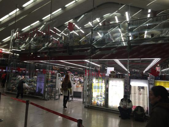 Borri Books: The store is actually inside Termini station, at the entrance, not in front of it as shown on th