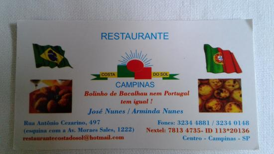 Restaurante Costa Do Sol