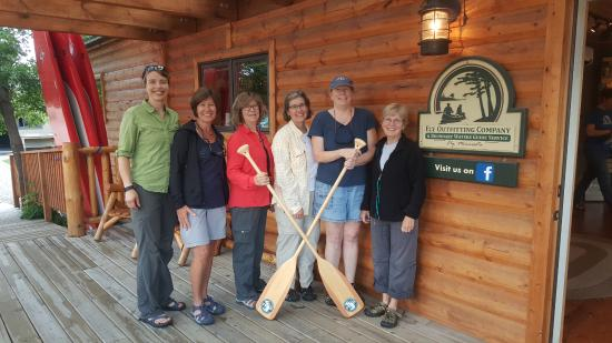 Boundary Waters Guide Service Day Tours: Five friends and our fantastic guide ready to enter BWCAW.