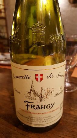 Rhone, ฝรั่งเศส: Raclette, fondue et vin savoyard de Frangy excellent  !