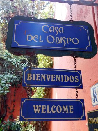 "Casa del Obispo "" Galeria de Arte Popular Mexicano"": ENtry Sign"